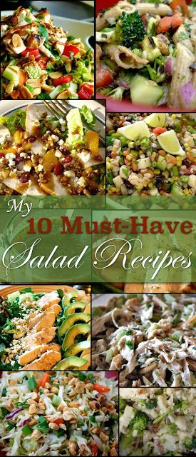 Looking for some healthy salad recipes that taste amazing? These are all the best! Pinned over 1,700 times