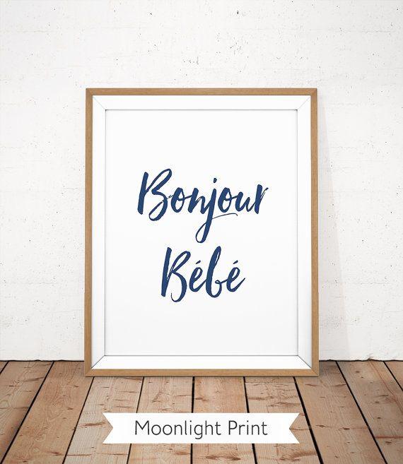 Bonjour bébé imprimable Bonjour Bébé affiche pépinière
