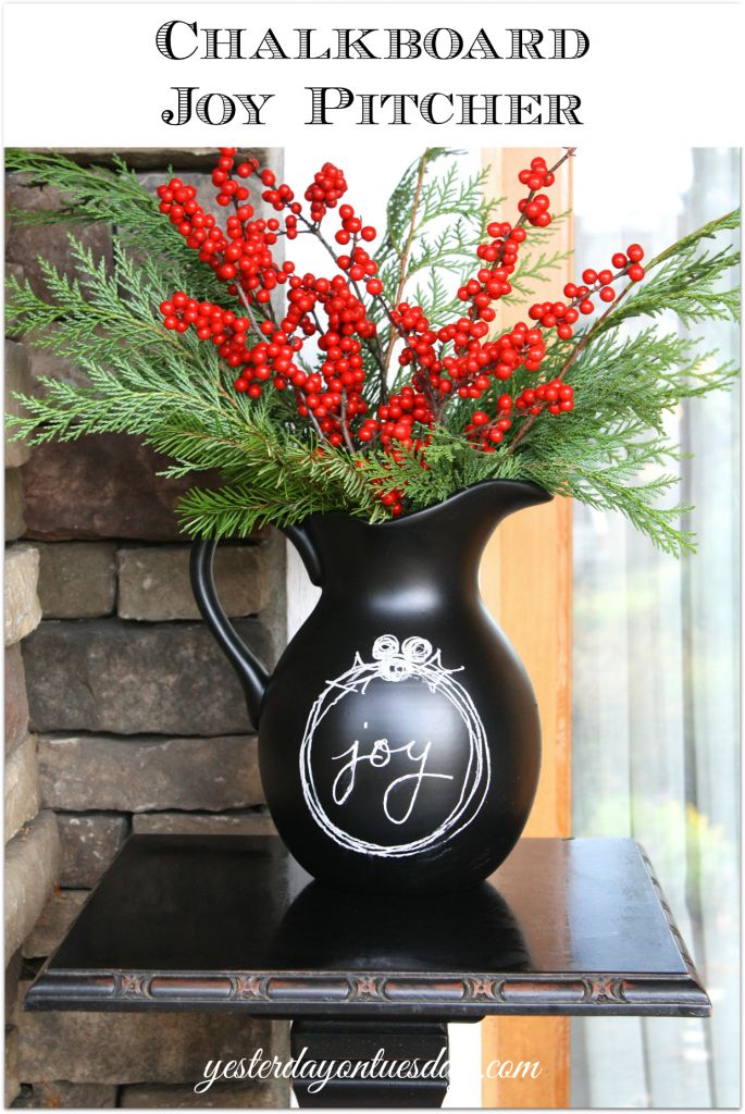 Recycle a unused pitcher into a beautiful chalkboard pitcher you can customize for any occasion f