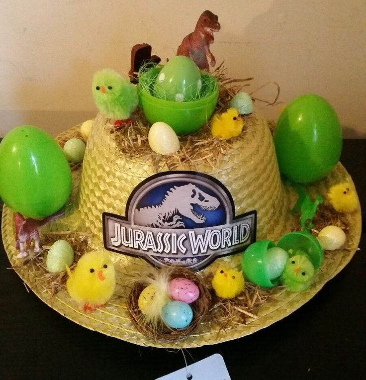 Brand New handmade Dinosaurs Easter bonnet  in Home, Furniture & DIY, Celebrations & Occasions, Other Celebrations & Occasions | eBay!