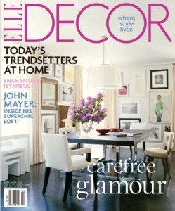 1 Year Subscription To Elle Decor Magazine