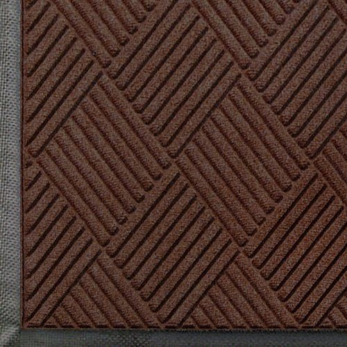 """Andersen 208 Dark Brown Polypropylene WaterHog Classic Diamond Entrance Mat, 4' Length x 3' Width, For Indoor/Outdoor by Andersen. $58.94. Perfect for most applications inside or out, WaterHog Classic Diamond's unique design makes it revolutionary. The rubber reinforced face nubs and diamond design provide crush proof scraping action. The raised rubber """"water dam"""" border traps dirt and water – keeping them off carpet and floors. Premium 24 oz/sq anti-static Polypropylene fibe..."""