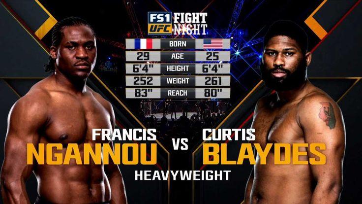 UFC Fight Night 141 Blaydes vs Ngannou Live Stream Ufc