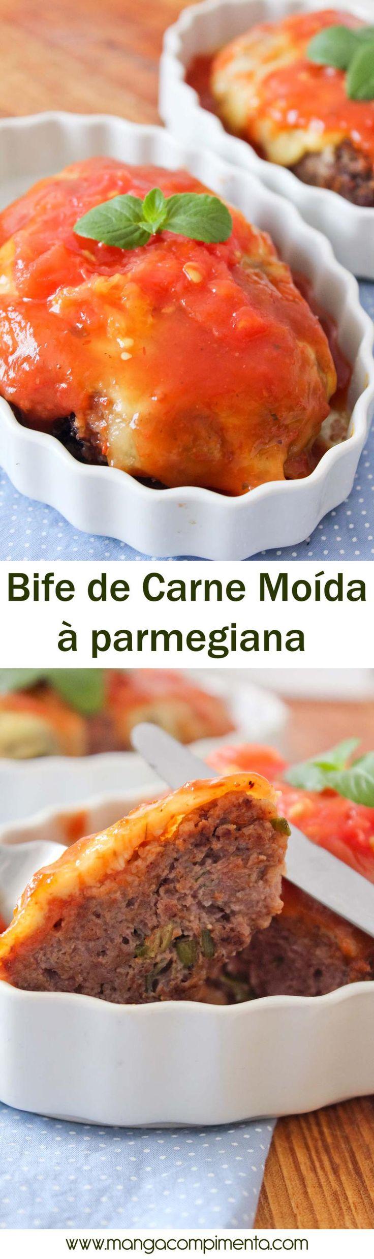 Bife de Carne Moída à Parmegiana | Para o almoço ou jantar da Semana! #receita #comida #carne #almoço #jantar