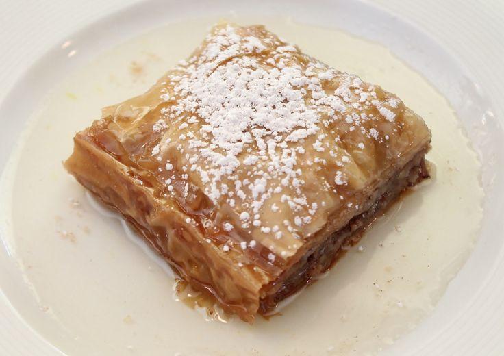 Baklava, a great classic dessert at Bellamy's in Winnipeg #baklava #Winnipeg #food #dessert #sweet #tv #shaw #meghansmenu
