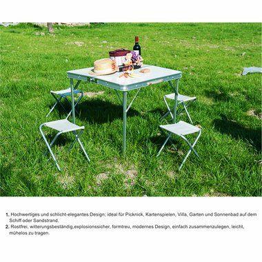 Stunning falttisch klapptisch campingtisch klappbar metall mit st hlen g nstig kaufen