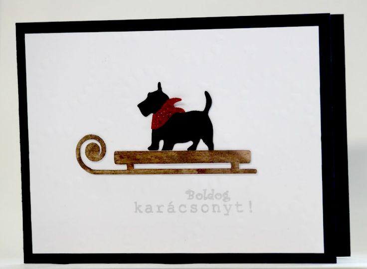 scottish terrier xmas card