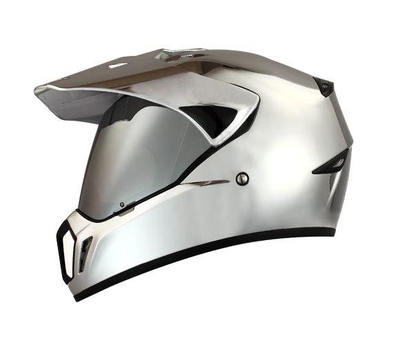 Masei 310 Chrome ATV Motocross KTM Helmets - sales@maseihelmet...