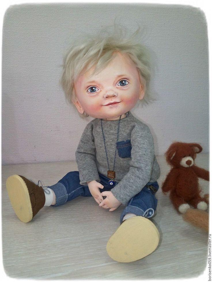 Купить Кукла по фото)) - белый, портретная кукла, лариса борисенко, кукла коллекционная, текстильная, подарок