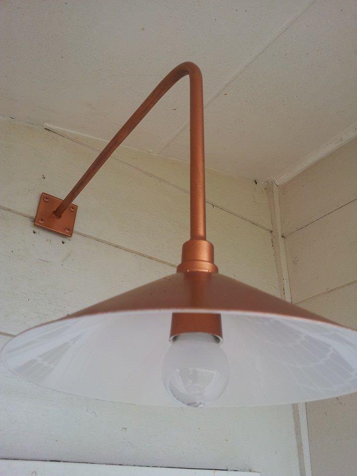 My copper homemade beach house light.....