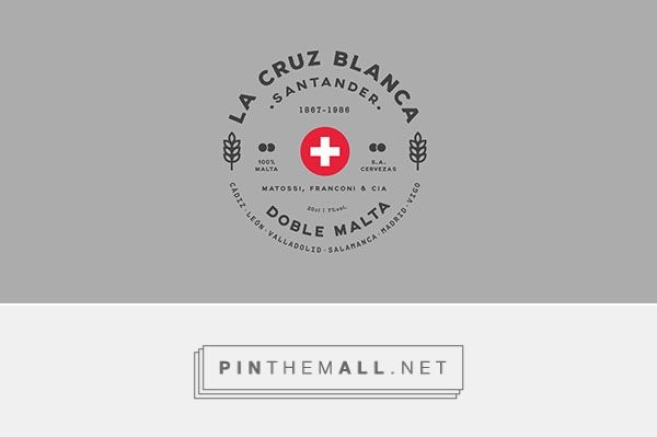 La Cruz Blanca Logo Design by Rafa San Emeterio Bowler | Fivestar Branding Agency – Design and Branding Agency & Curated Inspiration Gallery  #logo #logodesign #design #designinspiration