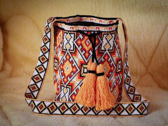 Modern mochila bag wayuu tecnique handmade Boho Bags Hippie