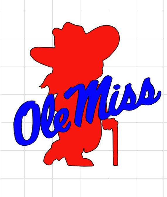 Ole Miss Rebel Vinyl Decal by BerryVinylDesigns on Etsy