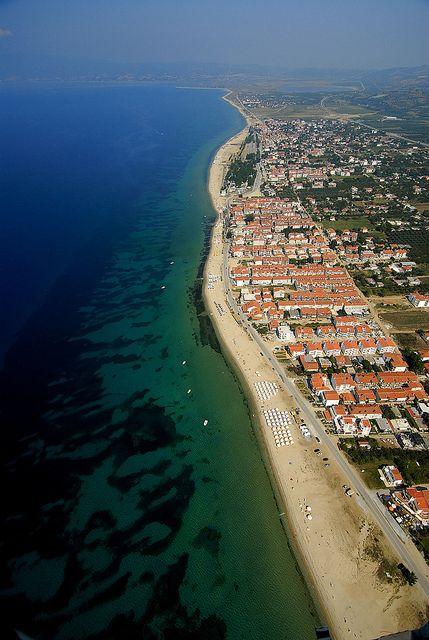 Ofrynio, Kavala, Greece (30 km stretch of fine sand beach!)