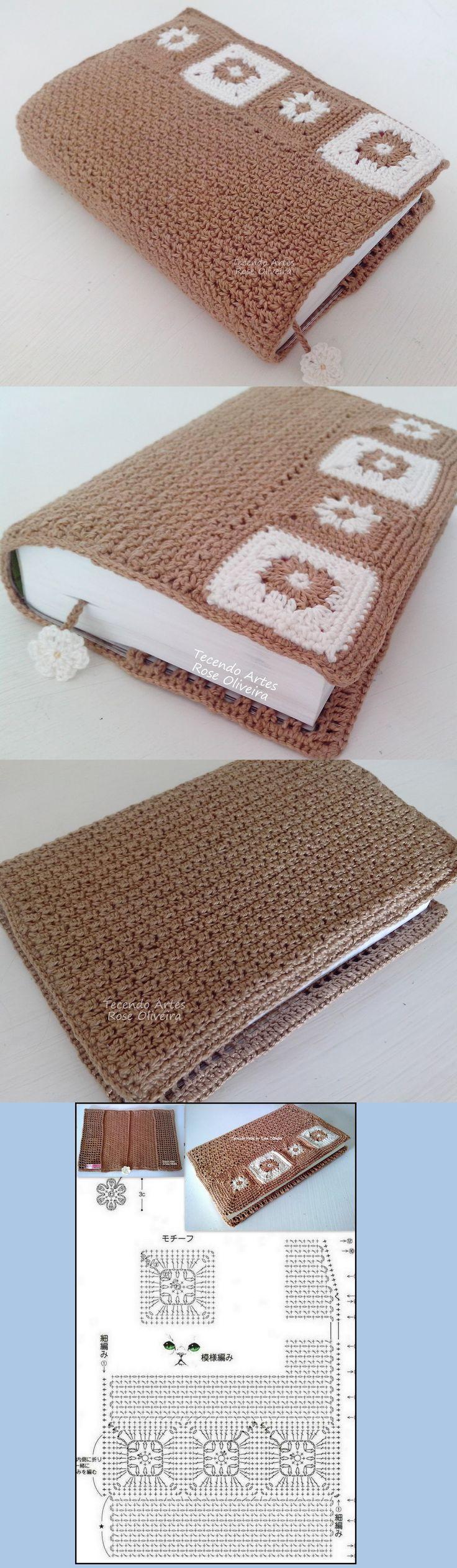 Tecendo Artes em Crochet: Capa para Agendas, Bíblias ou Livros - Com gráfico!