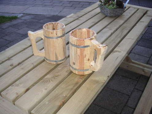 How to: Make a Wooden Beer Mug | Man Made DIY | Crafts for Men | Keywords: diy, how-to, stein, mug