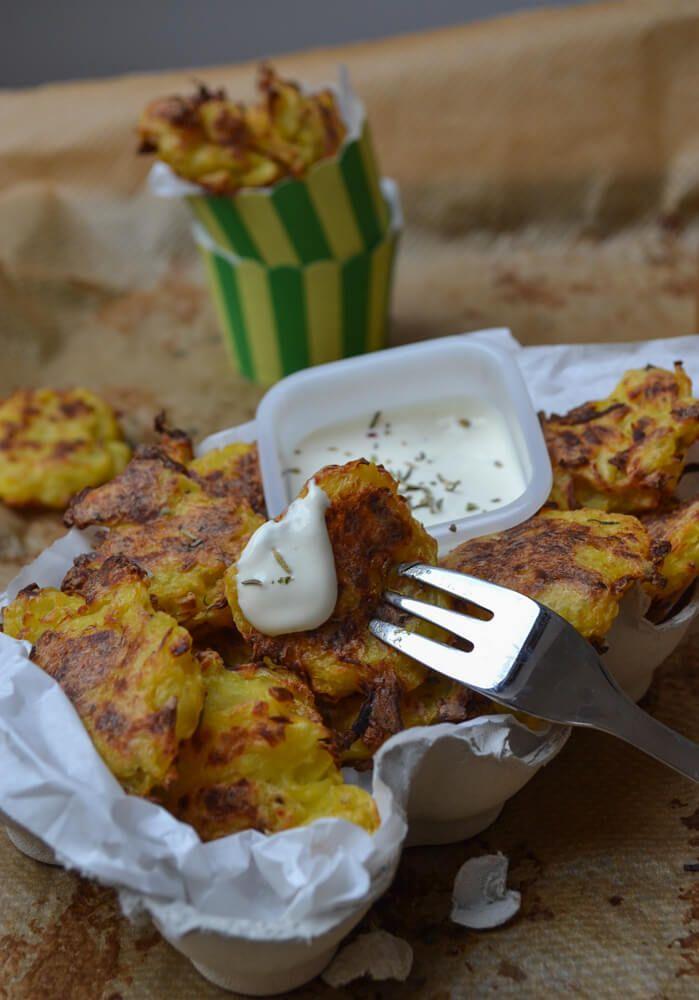 Tater Tots Knoblauch Zitronen Dip Kartoffel Kroketten
