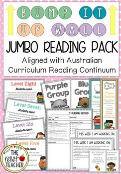 Bump it Up Wall *Reading Mega Bundle* Aligned with Australian Curriculum Reading Clusters*