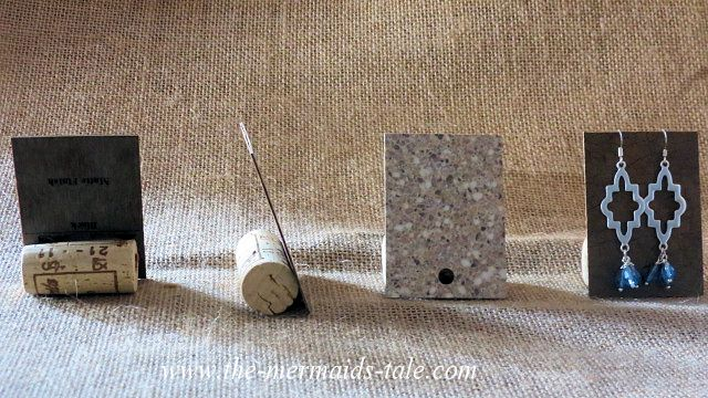 easy cheap earring display with cork and laminate counter sample