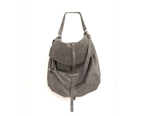Classic Handmade Leather Handbag in Grey Womens by StellaandLori