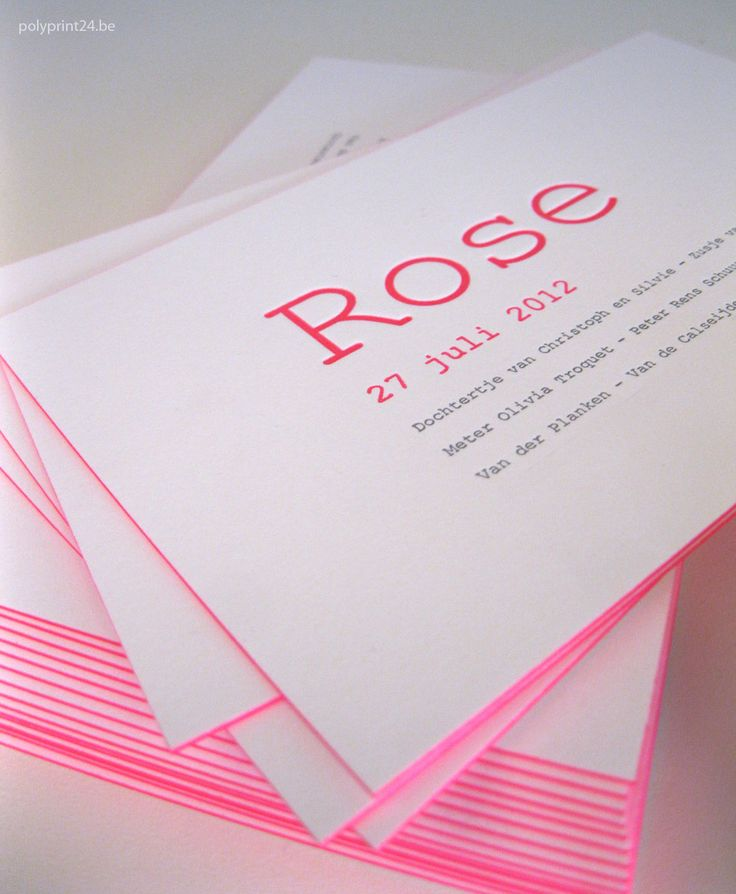 Birth Announcement / Rose