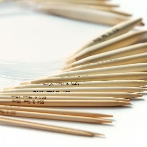 16 par/32pcs av 40cm bambus sirkulær Strikkepinner med saken (2mm - 12mm) pekte - Heklet