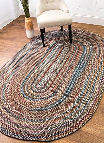 Braided Textured Casual Reversible Thick Woo Area Rug