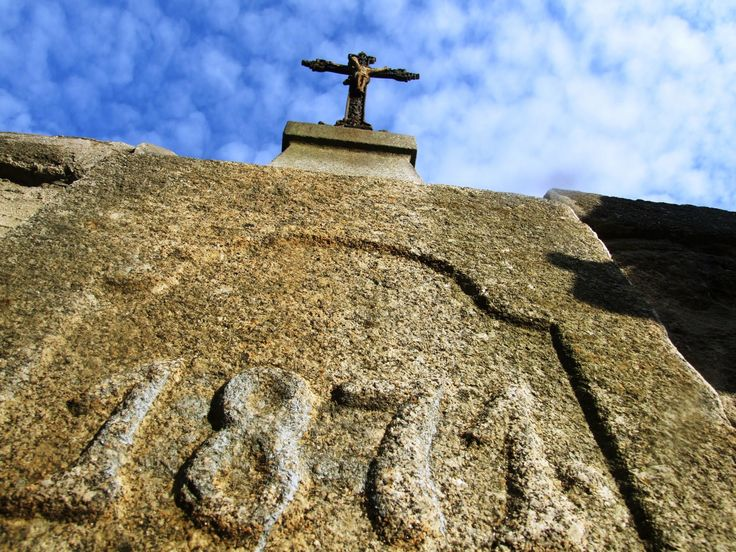 Osečany - cross on the stone bridge was builded in 1871