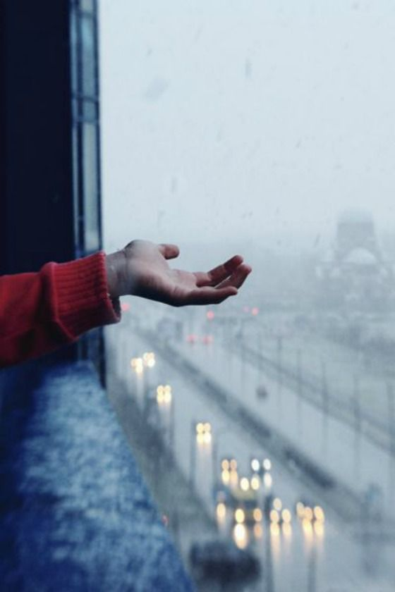 Feeling the rain