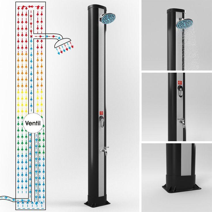 solardusche 37 l gartendusche pooldusche camping solar. Black Bedroom Furniture Sets. Home Design Ideas