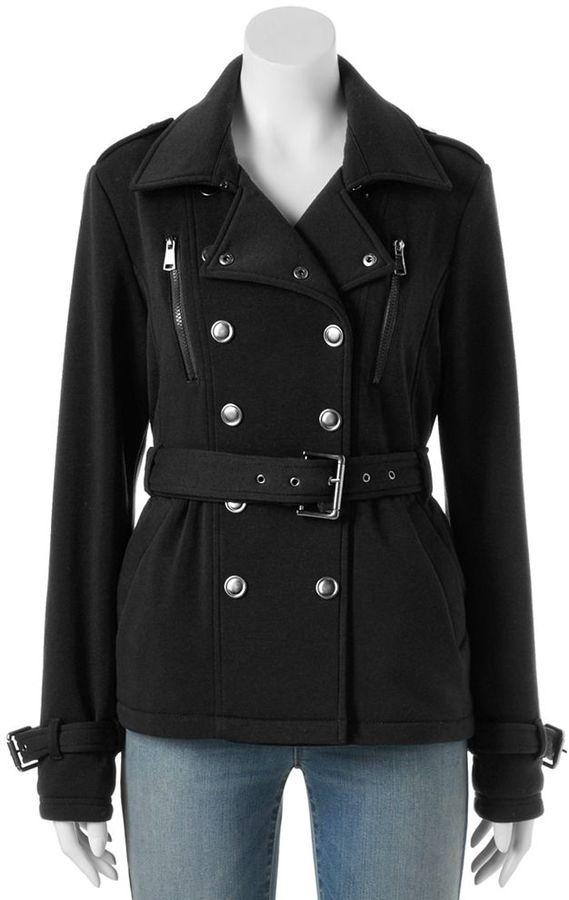 Juniors' Urban Republic Double Breasted Fleece Coat