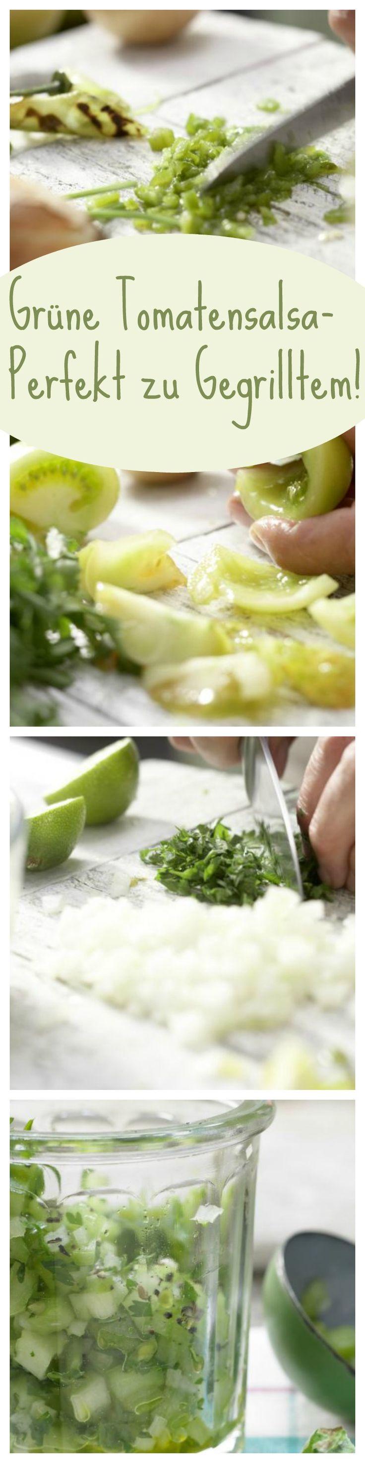 Lecker-pikante südamerikaische Beilage: Grüne Tomaten-Salsa mit Limette und Koriander | http://eatsmarter.de/rezepte/gruene-tomaten-salsa