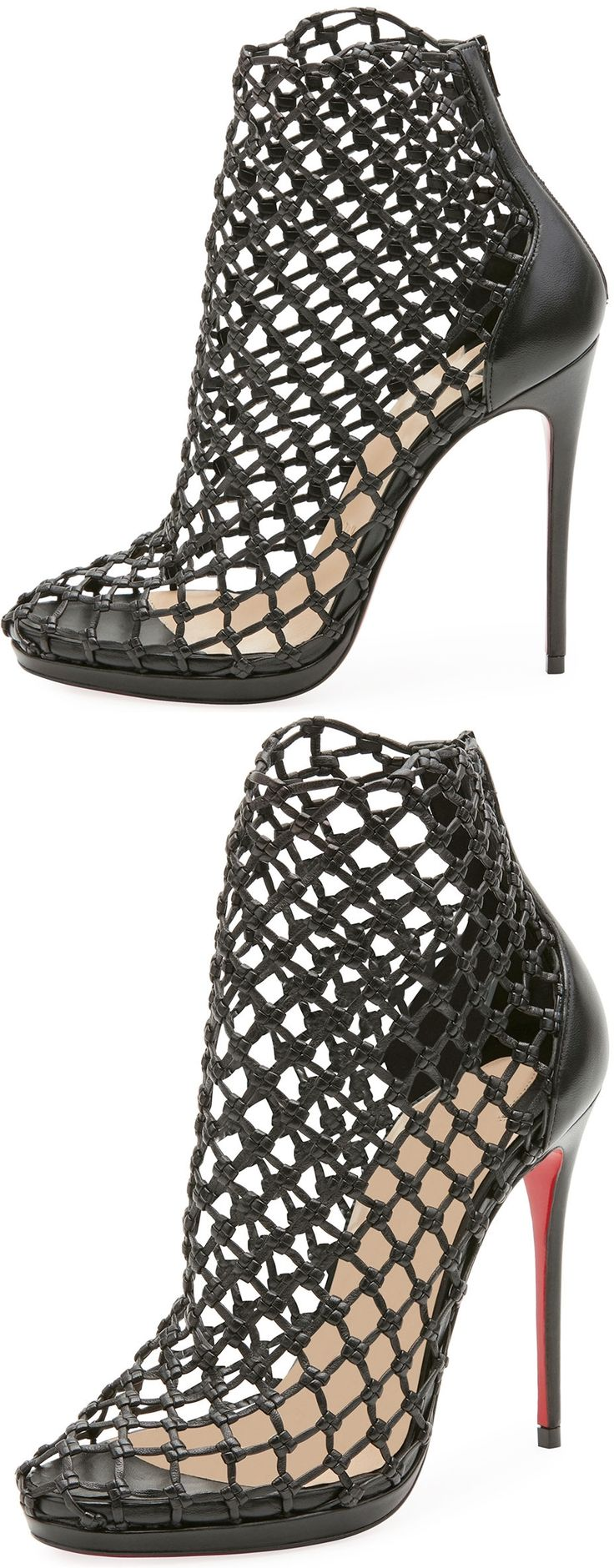 Dope or Nope? Don't miss this Christian Louboutin Porligat cage bootie in napa leather