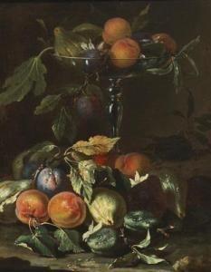 Abraham Brueghel - A Still Life Of Fruit