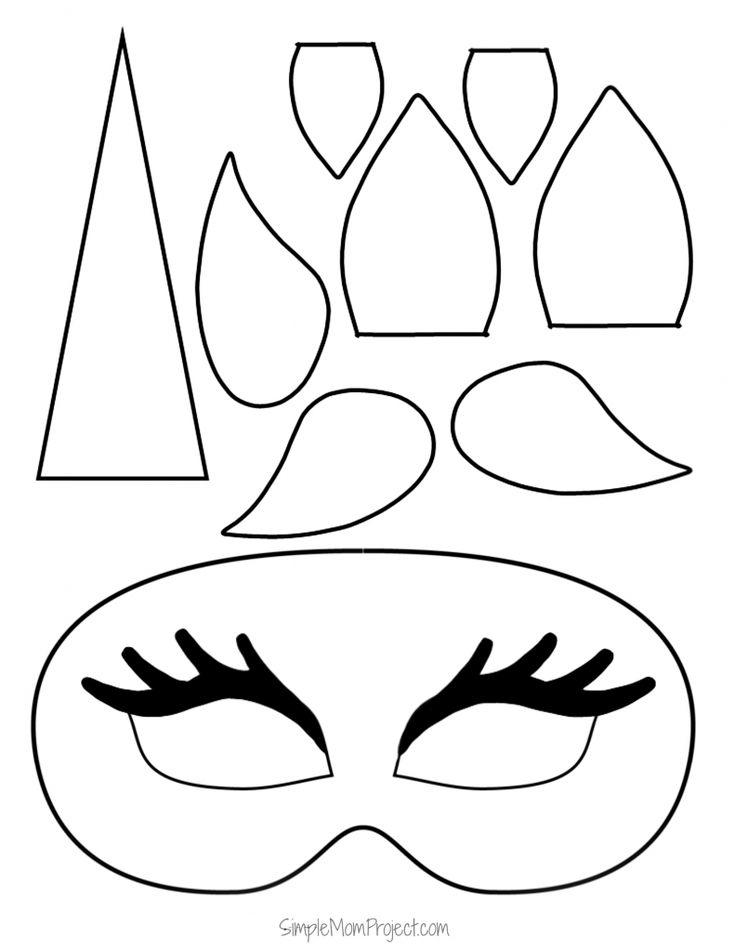 Unicorn Face Masks With Free Printable Templates Unicorn Mask