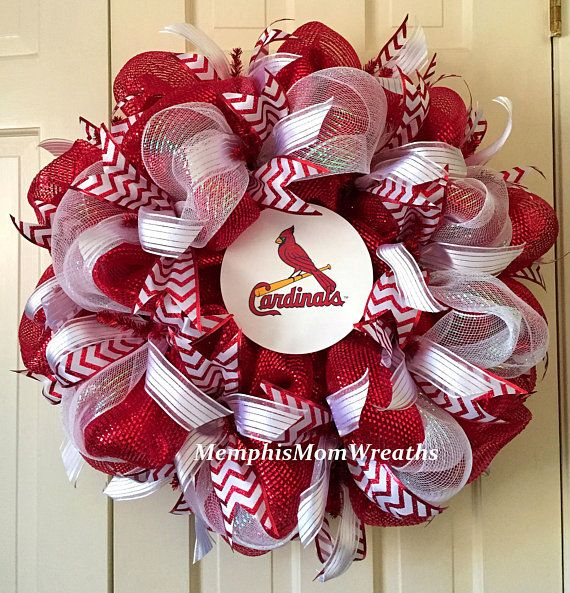 St. Louis Cardinals Deco Mesh Wreath  Deco Mesh Wreath  St.