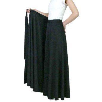 Bourree★♪ロングスカート黒★☆コーラス 合唱 衣装 ウエストサイズ調節可能巻きスカート 選べるスカート丈3サイズ