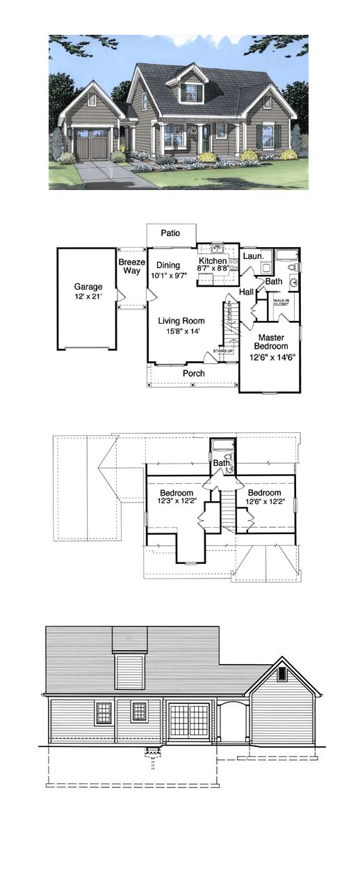 CapeCod House Plan Chp 23345