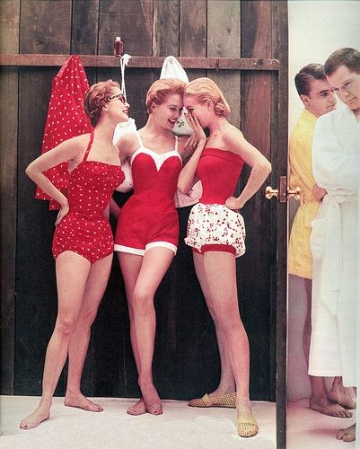 Vintage swim suits. I want all of them. Even the bloomers.