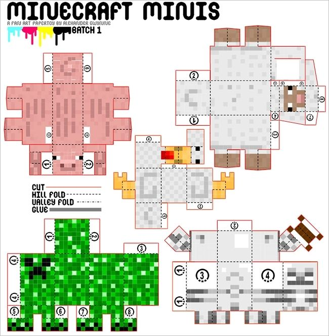 Minecraft mini papercraft
