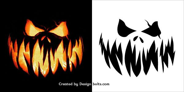 10 Free Scary Halloween Pumpkin Carving Patterns, Stencils ...