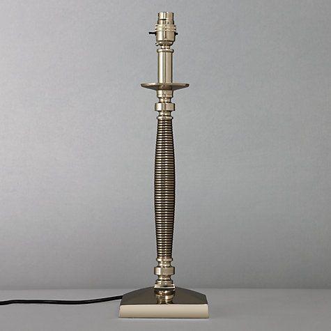 Buy john lewis gwen candlestick lamp base nickel and antique silver h45cm online at