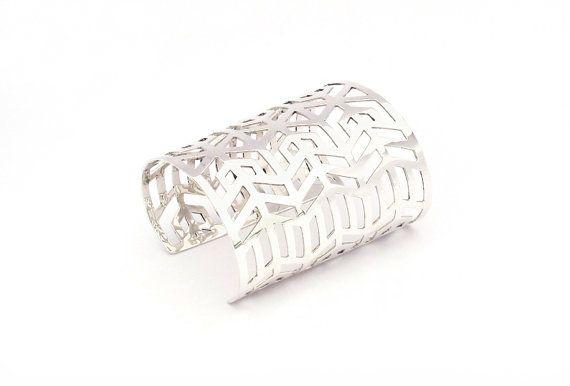 Silver cuff by KateMcCoyJewelry on Etsy, $490.00