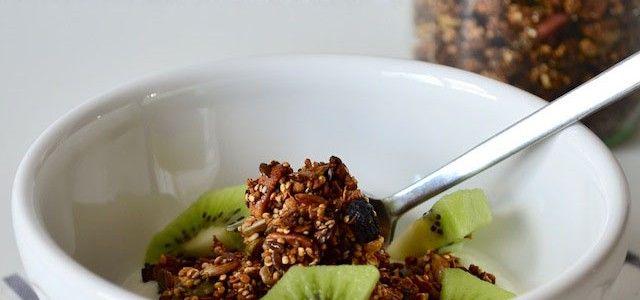 Granola met quinoa - Uit Paulines Keuken