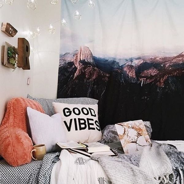 cozy warm room ideas inspiration decor urban outfitters bedroom aesthetics hipsters Tumblr