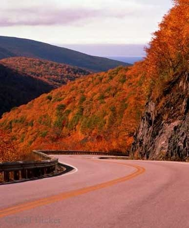 Fall Colours on the Cabot Trail, Cape Breton. #CapeBreton