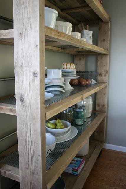 free standing kitchen shelves