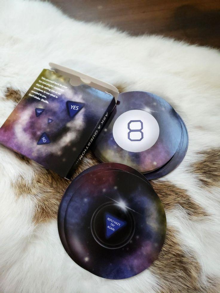 Magic 8 ball round circle oracle tarot card deck