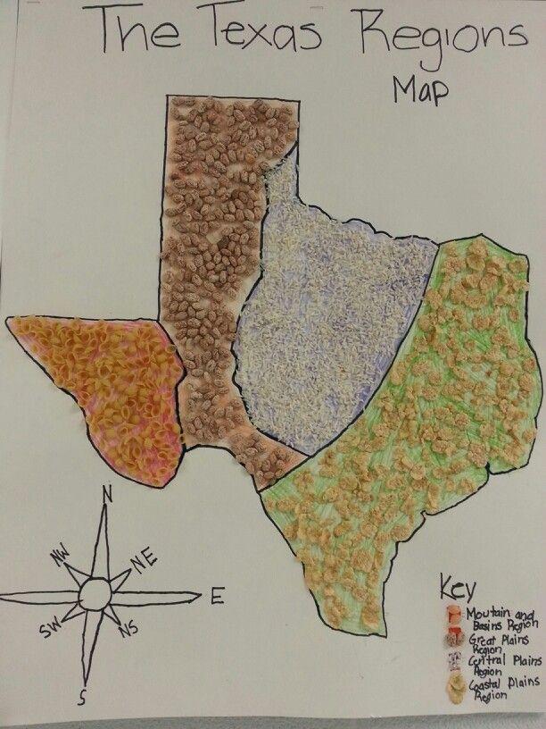 Map Of Texas 4 Regions.Regions Of Texas Map 4th Grade Twitterleesclub