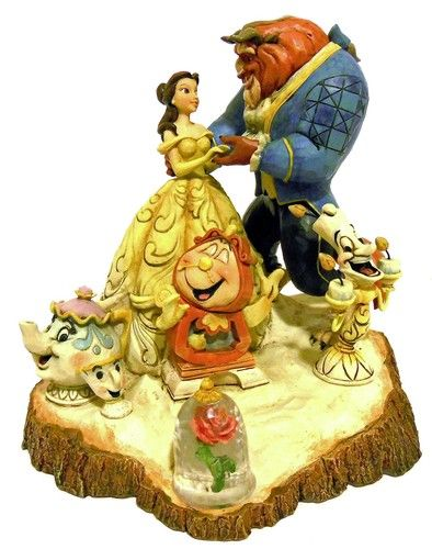 Signed Jim Shore Beauty and The Beast Tale as Old as Time Figurine 4031487